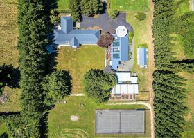 Aerial view of Bond Estate Luxury Accommodation in Christchurch NZ