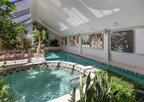 Indoor swimming pool at Bond Estate Luxury Accommodation in Christchurch NZ